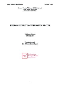 Energy Security Of The Baltic States
