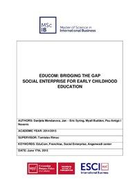 EDUCOM: BRIDGING THE GAP SOCIAL ENTERPRISE FOR EARLY CHILDHOOD EDUCATION