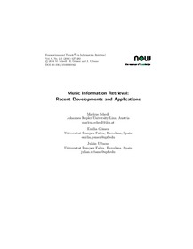 Music Information Retrieval: Recent Developments and Applications