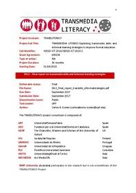 Project Acronym: TRANSLITERACY Project Full Title: TRANSMEDIA