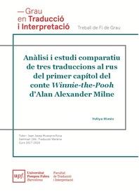 Anàlisi I Estudi Comparatiu De Tres Traduccions Al Rus Del
