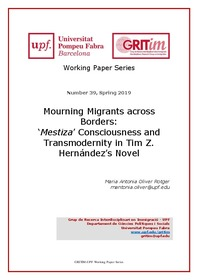Mourning Migrants across Borders: 'Mestiza' Consciousness and