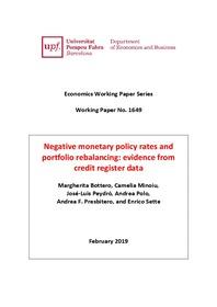 Negative monetary policy rates and portfolio rebalancing