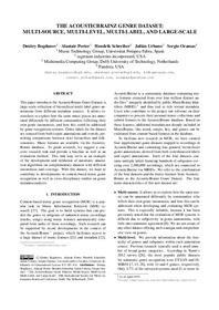 THE ACOUSTICBRAINZ GENRE DATASET: MULTI-SOURCE, MULTI-LEVEL